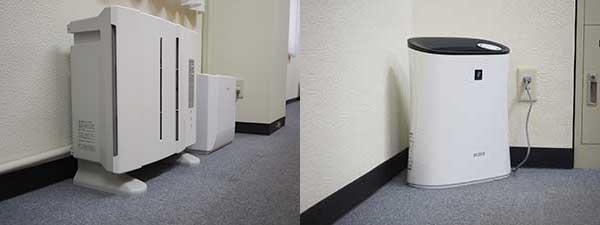 自習室鶴見店 空気清浄機